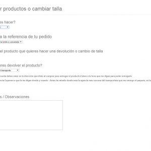devolver productos formulario 300x300 - Modulo devolver producto o cambio combinación en Prestashop - Rápido y sencillo - Formulario